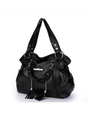 1f9741f4ad93 Product Image PU Leather Handbag Shoulder Bag Travel Backpack Tote Tassel  Large With Zipper For Women Girls Lady