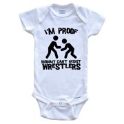 I'm Proof Mommy Can't Resist Wrestlers Funny Wrestling Baby Onesie