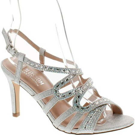 De Blossom Collection Womens Rita-6 Strappy Dress Heel Sandals - Heel Collection