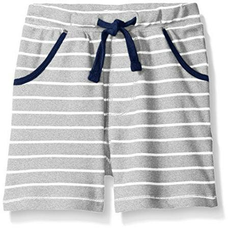 Mud Pie Baby Boys' Toddler Shorts Pull On, Gray Stripe