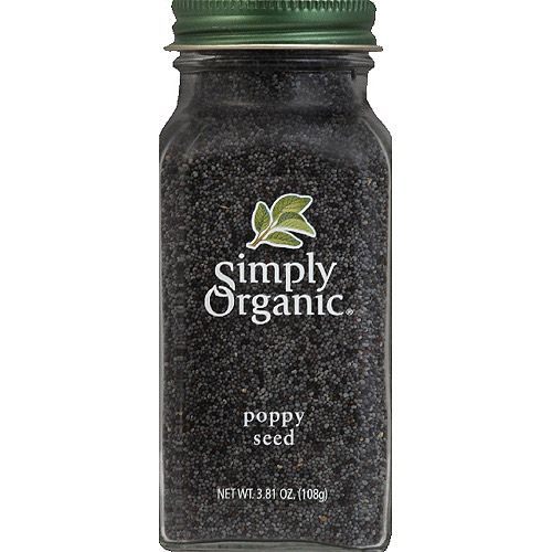 Simply Organic Poppy Seed, 3.81 oz, (Pack of 6)