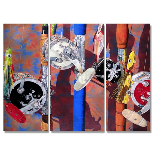All My Walls 'Tools of the Sport' by Rick Kroninger 3 Piece Painting Print Plaque Set