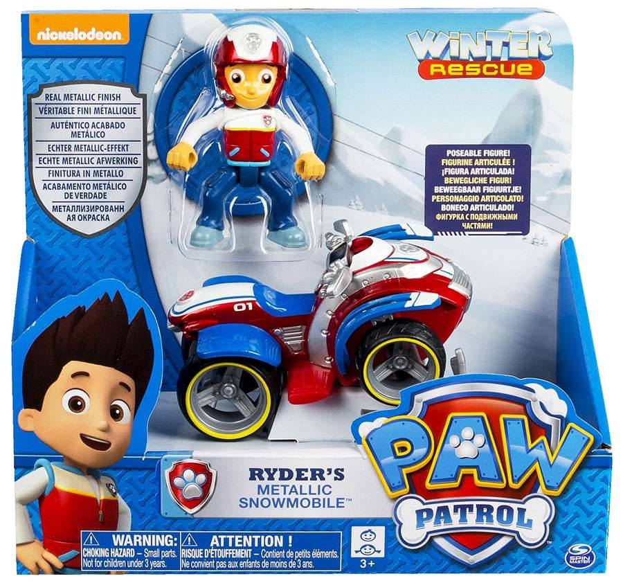 Paw Patrol Winter Rescue Ryder's Metallic Snowmobile