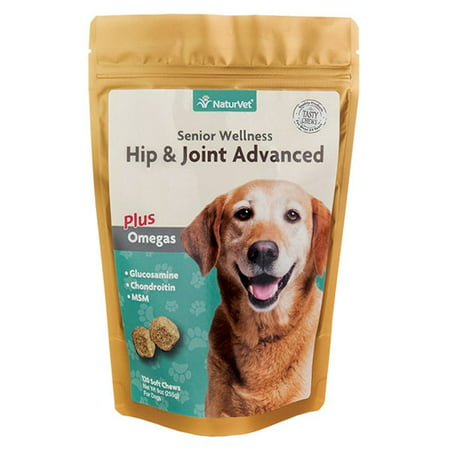 NaturVet Hip & Joint Advanced Soft Chew Joint Supplement for Senior Dogs , 120 Soft
