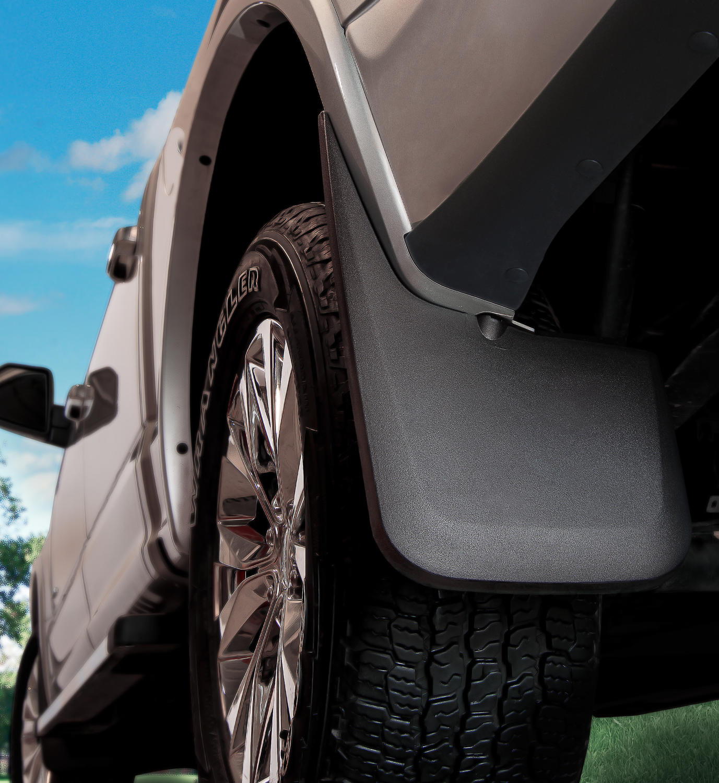 Husky 57891 Custom Molded Rear Mud Guards 2014-2016 GMC Sierra 1500//2500//3500