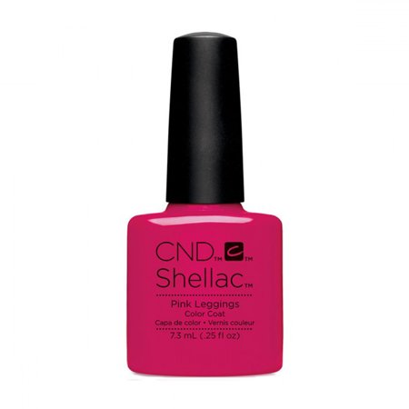 CND Shellac Nail Polish - Pink Leggings - Shellac Nail Art Halloween