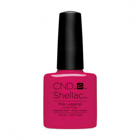 Pink And Black Halloween Nails (CND Shellac Nail Polish - Pink)