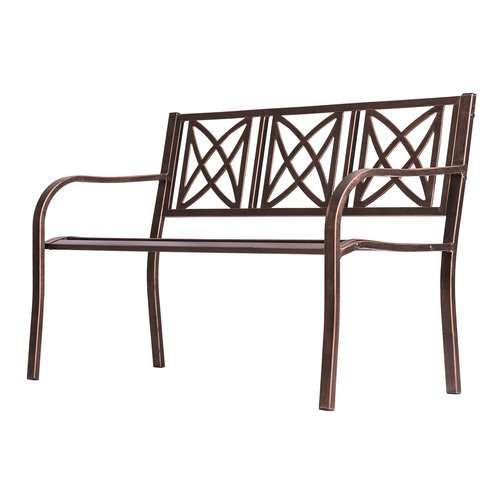 Charlton Home Kelty Steel Garden Bench by