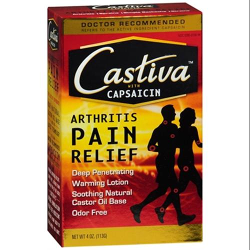 Castiva Arthritis Pain Relief Lotion with Capsaicin 4 oz (Pack of 2)