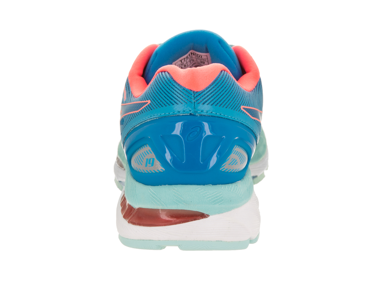 ASICS Women's GEL-Nimbus 19 Running 8) Shoes (Blue/Red, 8) Running c1714f