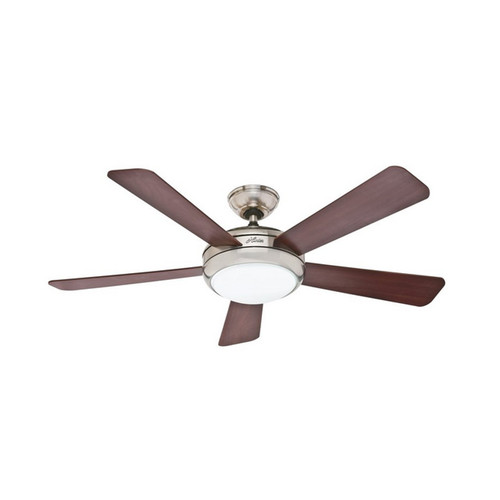 Hunter 59052 Palermo 52 in. Brushed Nickel Ceiling Fan with Light by Hunter