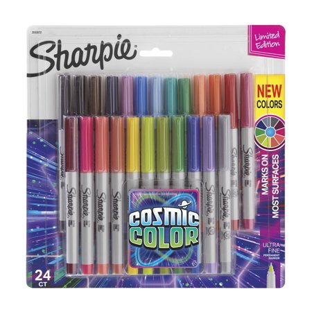 Sharpie Permanent Markers, Ultra Fine Point, Cosmic Color, Limited Edition, 24 Count](Sharpie Colors List)