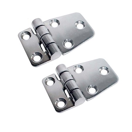 White Water 7722ES Marine Stainless Short Side Door Hinge, Pair Acco Pressboard Side Hinge