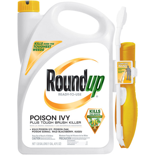 Roundup Poison Ivy Plus Tough Brush Killer with Ready-to-Use Wand, 1.33 gal