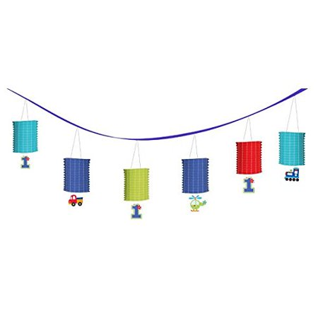 All Aboard Transportation Boy Party Paper Lantern Garland