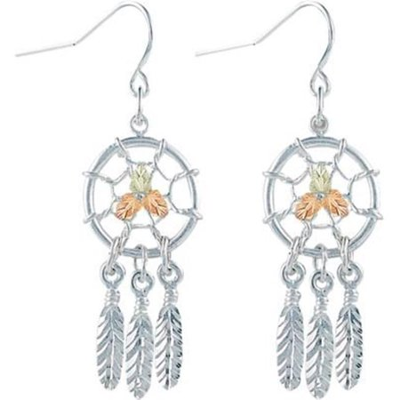 Landstroms MRLER866 Silver Black Hills Gold Dreamcatcher Earrings - image 1 de 1
