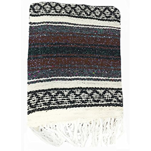 El Molcajete Brand Traditional Mexican Yoga Blanket Assorted Colors