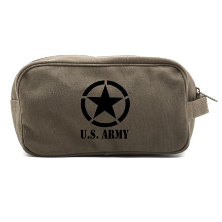 - U.S. Army Star Military Canvas Shower Kit Travel Toiletry Bag Case