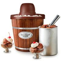 Nostalgia ICMW4NHDB 4-Quart Wood Bucket Ice Cream Maker