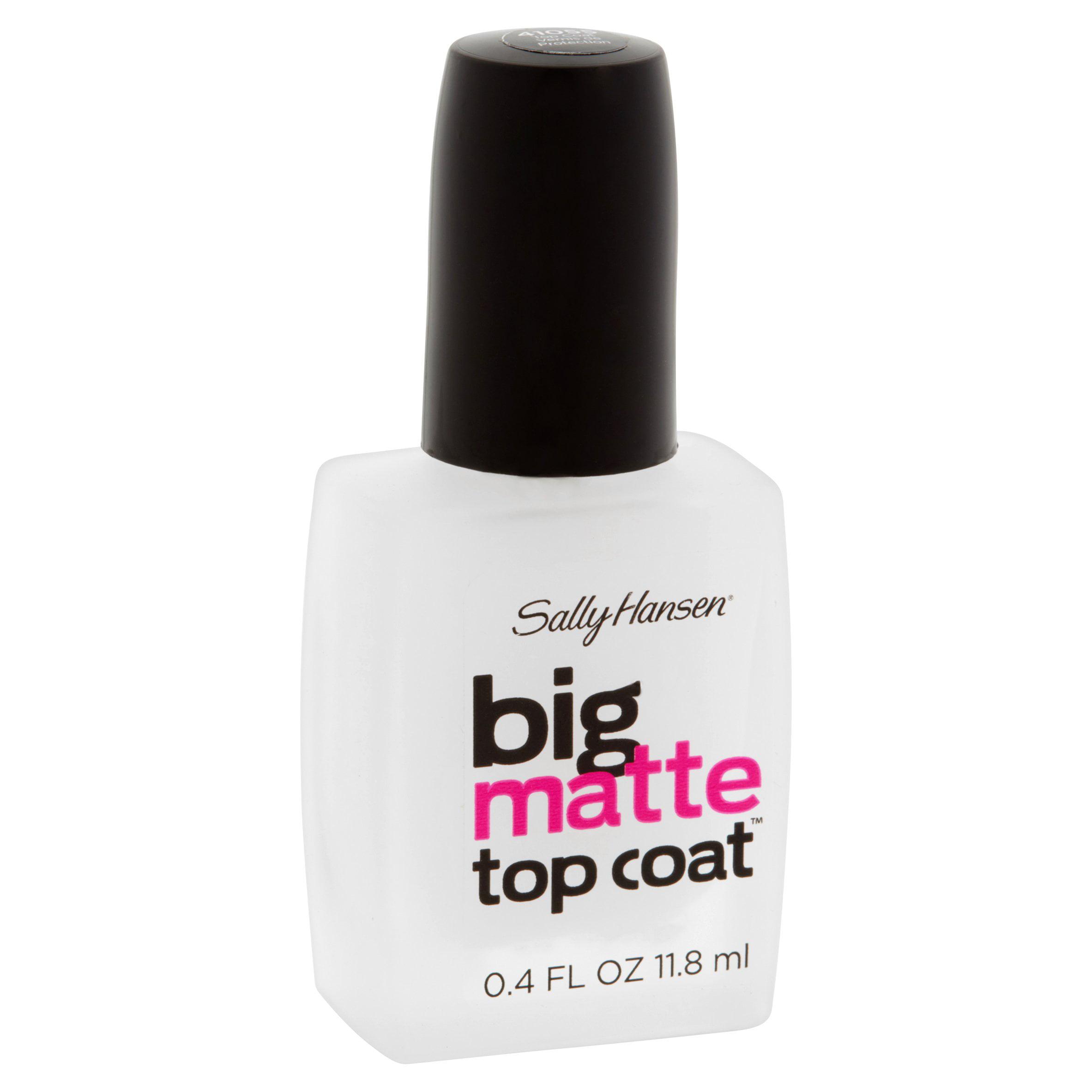 Sally Hansen Big Matte Nail Top Coat, Clear, .4 fl oz - Walmart.com