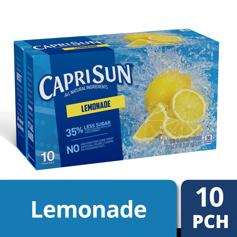Capri Sun Lemonade Ready-to-Drink Soft Drink, 10 - 6 fl oz Pouches