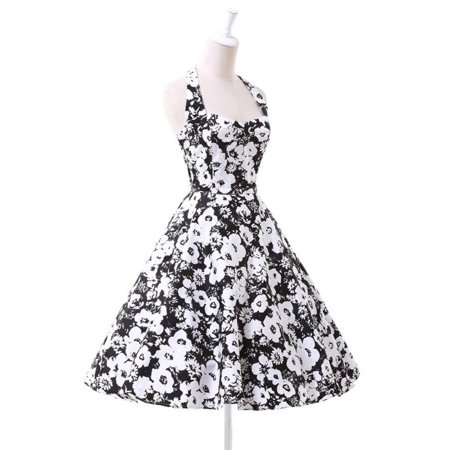 2017 New Women Vintage Style Floral Prints 50'S 60'S Swing Pinup Retro Party Prom Housewife Dress