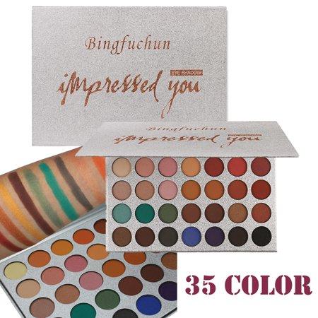 Tuscom 35 Color Pearl Glitter Eye Shadow Powder Palette Matt Eyeshadow Cosmetic Makeup