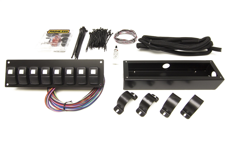 Painless Wiring 58102 Track Rocker 8 Switch Panel Walmart Com Walmart Com