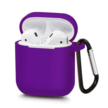 AirPods Silicone Case Cover Protective Skin with Keychain for Apple Airpod Charging Case ()