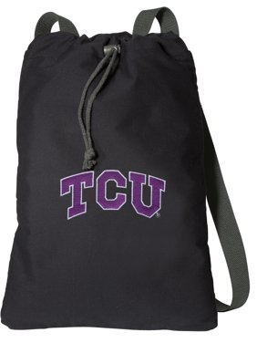 64dae5ecea3a Product Image Canvas TCU Backpack Natural Cotton Texas Christian University  Cinch Bag Lined and with Wide Straps