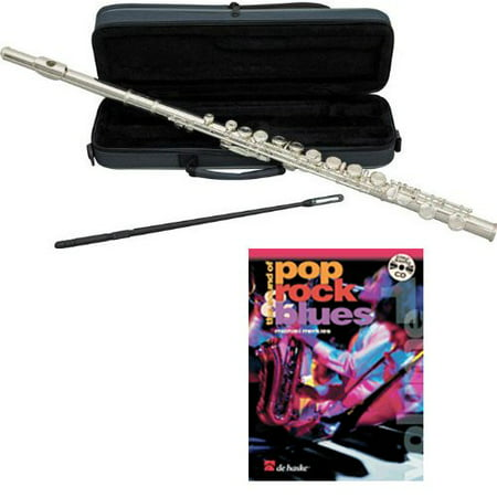 Pop Rock & Blues Flute Pack - Includes Flute w/Cse & Accessories &Pop Rock & Blues Play Along Book