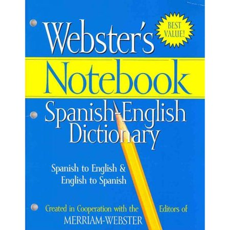 Websters Notebook Spanish English Dictionary