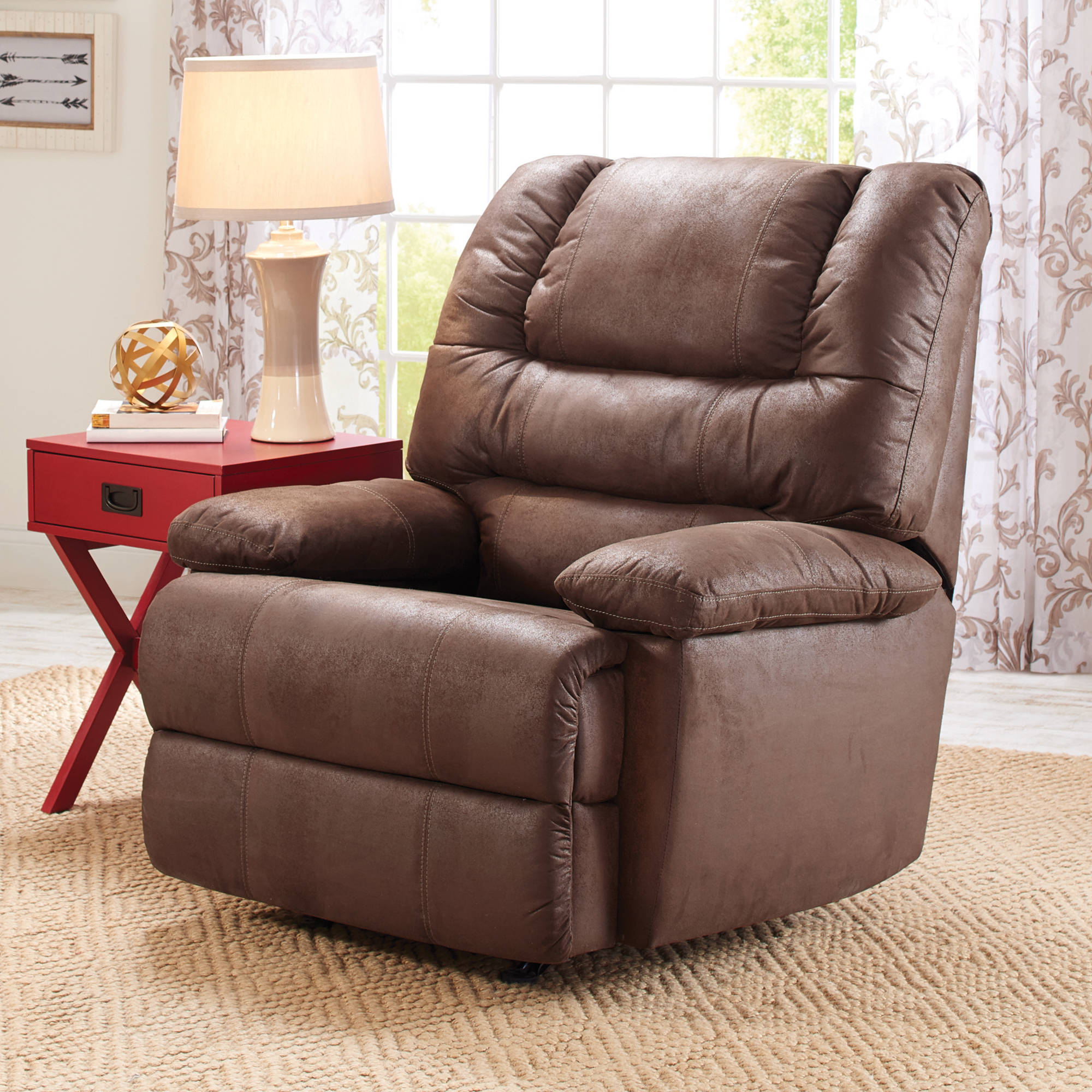 arms bench wide storage double brylanehome plush review mag recliner things chairs sofa with gallery extra arm chair