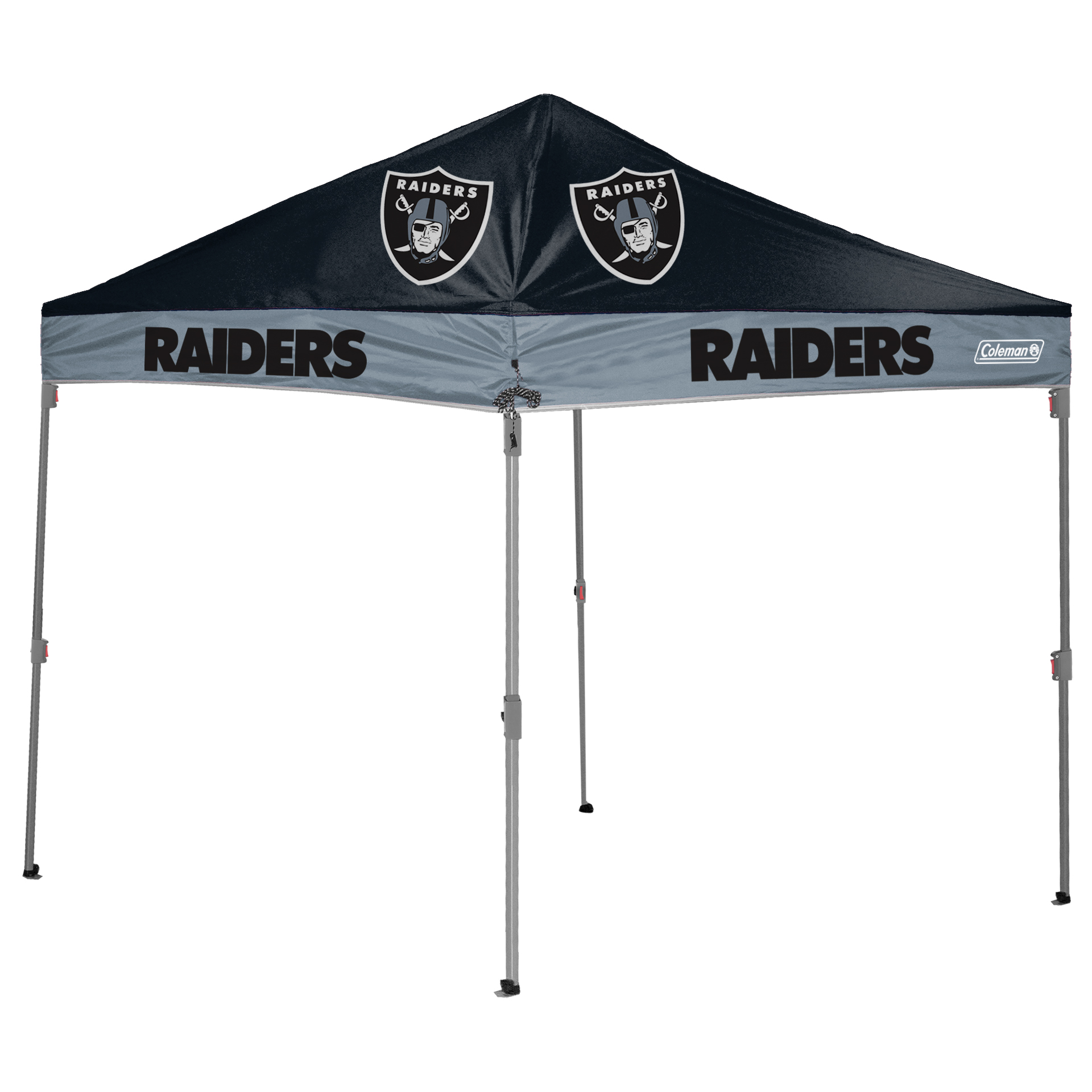 Oakland Raiders Coleman 10' x 10' 2-Tone Straight Leg Canopy - No Size