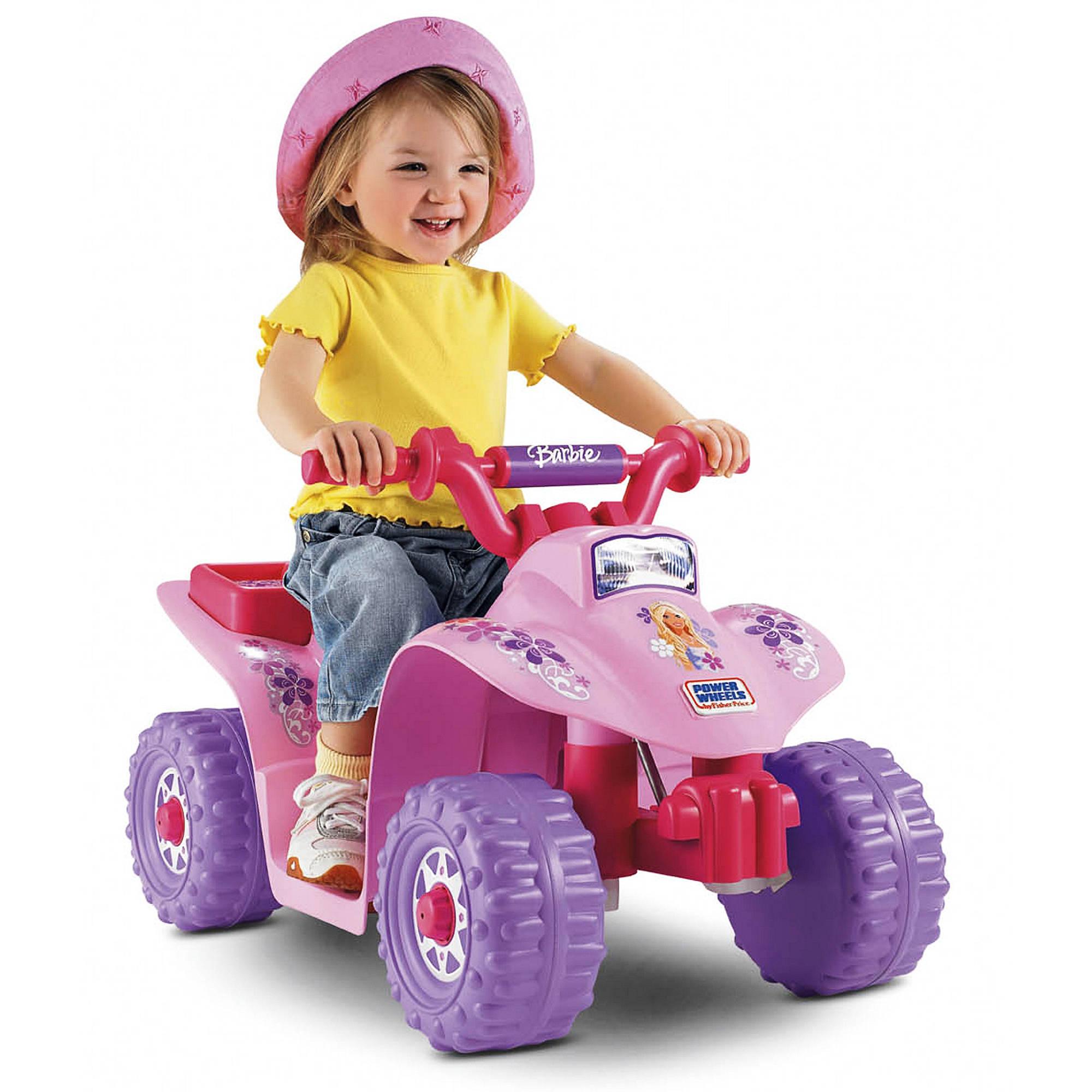 Power Wheels Barbie Princess Lil Quad Walmart