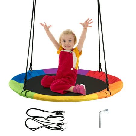 Goplus 40'' Flying Saucer Tree Swing Indoor Outdoor Play Set Swing for Kids ()