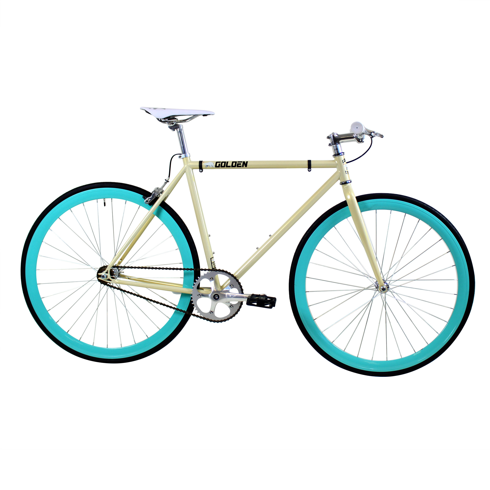 Golden Cycles Abigail Beige Teal Fixed Gear 41 cm