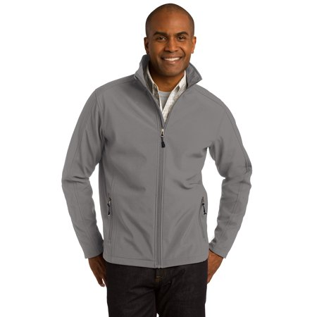 Port Authority Men's Welded Soft Shell Jacket. J324, Deep Smoke,