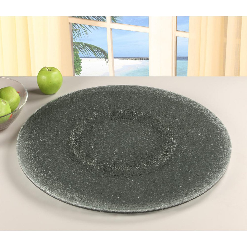 Chintaly 24 in. Sandwich Glass Lazy Susan - Gray