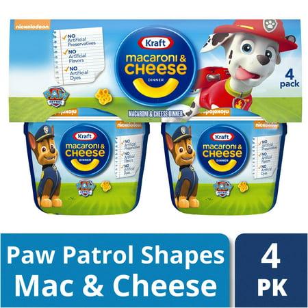 (2 Pack) Kraft Paw Patrol Shapes Macaroni & Cheese Dinner 4-1.9 oz. Microcups ()
