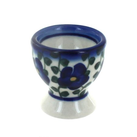 Polish Pottery Violets Egg Cup