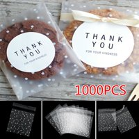 100/500/1000Pcs Clear Self Adhesive Cookie Baking Gift DIY Bag Plastic Candy Package Bags