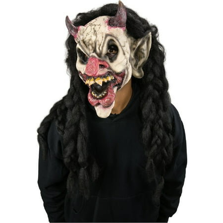 Scary Horror Clown Demonic Demon Jester Costume Halloween Makeup Kit Appliance
