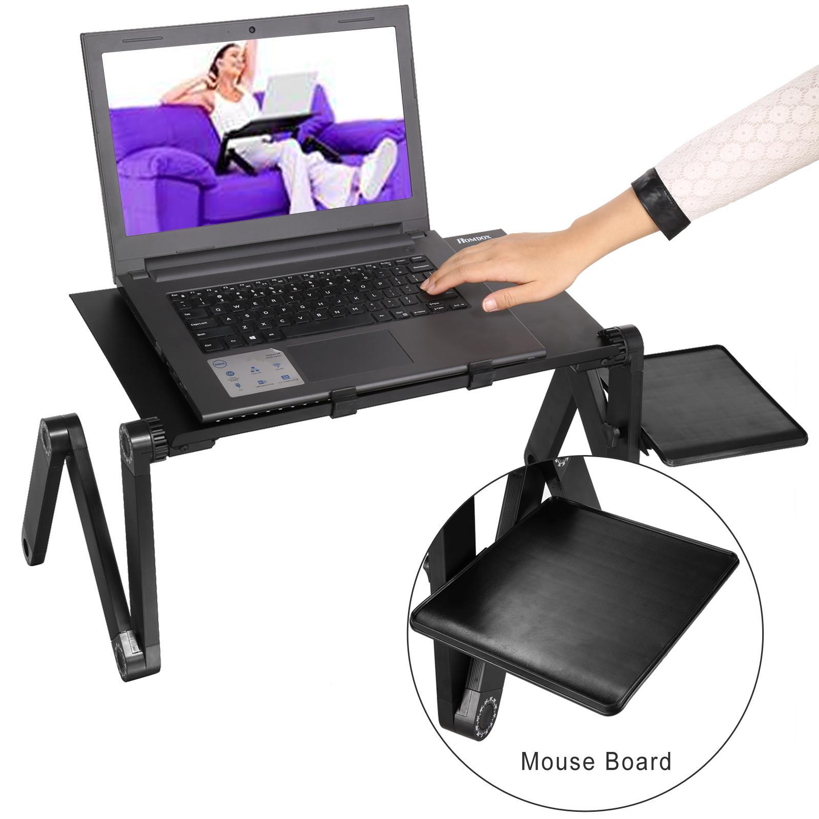 360 Degree Adjustable Foldable Laptop Notebook Desk Table Stand With Mouse Board