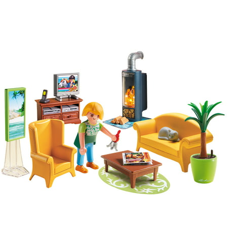 PLAYMOBIL Living Room with Fireplace ()