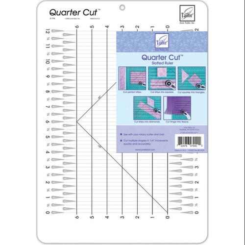 "Quarter Cut Slotted Ruler-11-1/4""X16"""