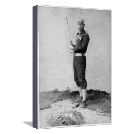 Louisville, KY, Louisville Colonels, Pete Browning, Baseball Card Stretched Canvas Print Wall Art By Lantern