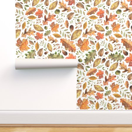 Minions Halloween Wallpaper (Peel-and-Stick Removable Wallpaper Leaves Fall Autumn Halloween Floral)
