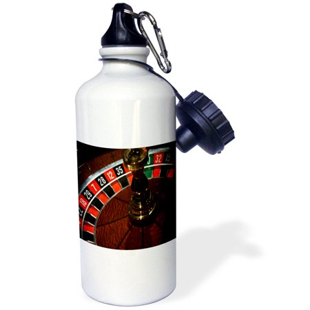 3dRose A Picture Of A Roulette Wheel, Sports Water Bottle, 21oz