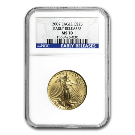 Gold Eagle Ms70 Early Release (2007 1/2 oz Gold American Eagle MS-70 NGC (Early Releases) )